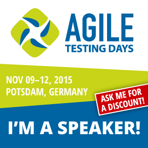 Come join me at Agile Testing Days 2015
